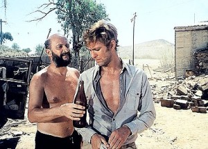 Local 'hospitality' - Donald Pleasence & Gary Bond pictured