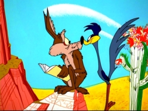 """Road Runner & Coyote - with his """"Curse of Knowledge"""""""