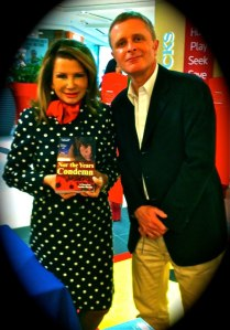 Author Justin Sheedy at Dymocks Chatswood with a True Patron of the Arts, Angela La Camera Paino