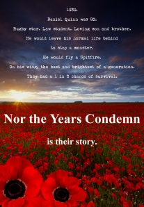 New Back Cover for Nor the Years Condemn post suggestion by Oz Film / TV / Theatre veteran, Tim Bean
