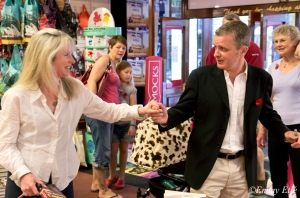 Sheedy with 'an old dancing partner' at Dymocks George St Sell-Out