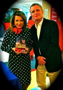 Author Justin Sheedy at Dymocks Chatswood with a True Patron of the Arts, Angela La Camera Paino