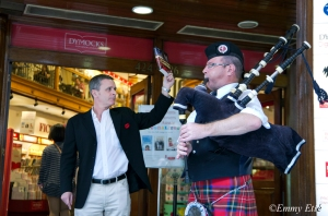 Author & Piper, Dymocks George St sell-out Remembrance Day weekend 2012
