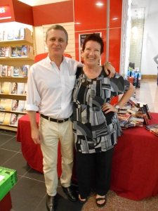 The Author with the wonderful Susanne Heuberger at Dymocks Broadway