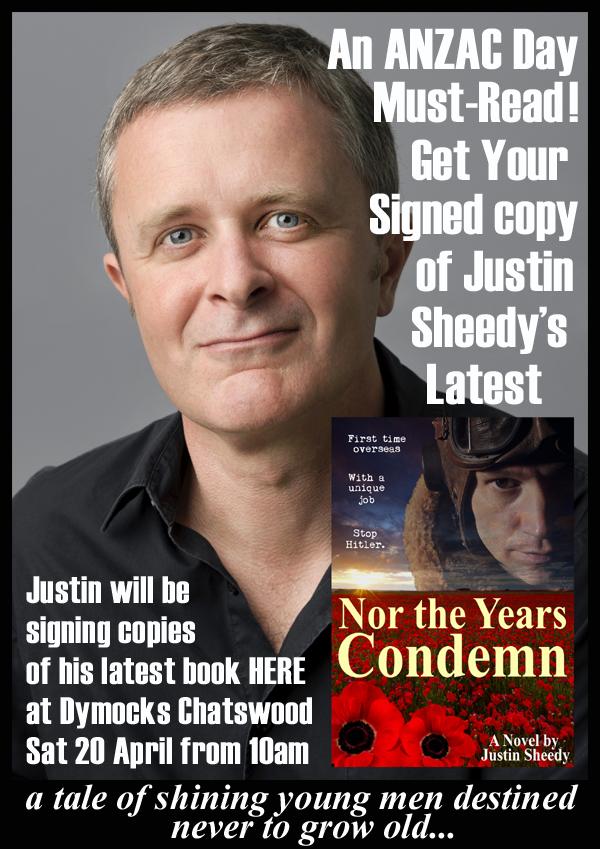 Justin Sheedy Dymocks Chatswood ANZAC