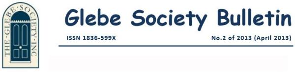 Glebe Society Bulletin