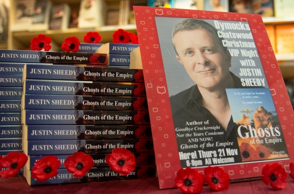 "Signing table including Poppies of Remembrance from the Australian War Memorial - proudly stocking ""Ghosts of the Empire"" & ""Nor the Years Condemn"""