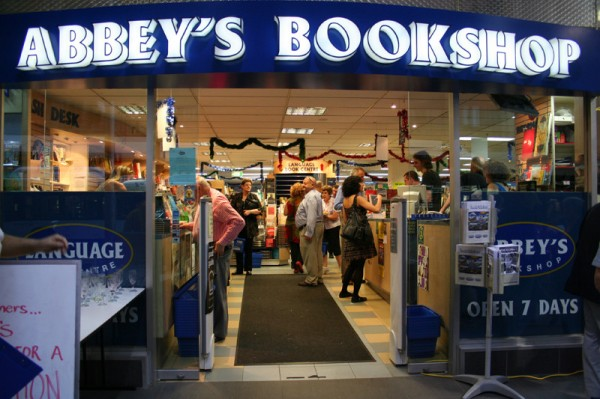 Abbey's Bookshop, York Street, Central Sydney