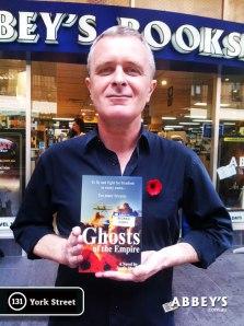 Author Justin Sheedy at Abbeys Books