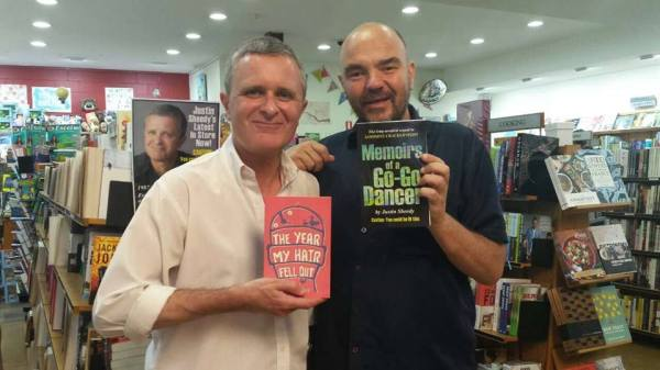 Justin with fellow Author, Bob Blunt